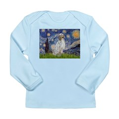 English Setter / Starry Night Long Sleeve Infant T