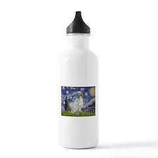 English Setter / Starry Night Water Bottle