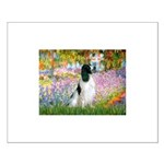 Monet's garden & Springer Small Poster