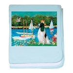Sailboats / Eng Springer baby blanket