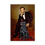 Lincoln / Flat Coated Retriev Mini Poster Print