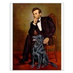 Lincoln / Flat Coated Retriev Small Poster