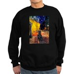 Cafe / Flat Coated Retriever Sweatshirt (dark)