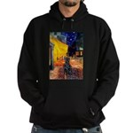 Cafe / Flat Coated Retriever Hoodie (dark)