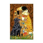 Kiss / Flat Coated Retriever Mini Poster Print