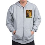 Kiss / Flat Coated Retriever Zip Hoodie