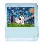 Starry / Fox Terrier (#1) baby blanket