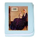 Mom's Wire Fox Terrier baby blanket