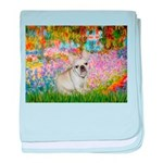 Garden / Fr Bulldog(f) baby blanket