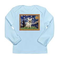 Starry/French Bulldog Long Sleeve Infant T-Shirt