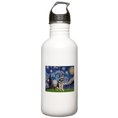 Starry / German Shepherd 10 Stainless Water Bottle