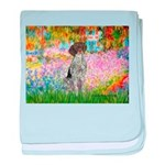 Garden/German Pointer baby blanket