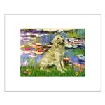 Lilies & Golden Small Poster