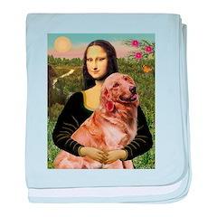 Mona's Golden Retriever baby blanket