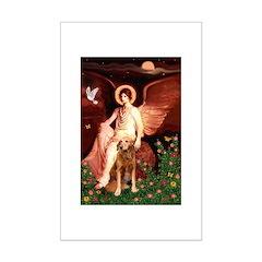 Angel & Golden Retrieve Mini Poster Print
