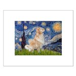 Starry Night & Golden Small Poster