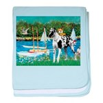 Sailboats / Gr Dane (h) baby blanket