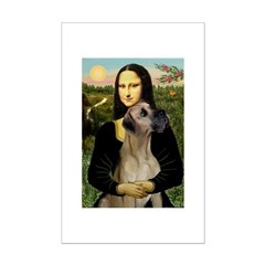 Mona / Great Dane Mini Poster Print