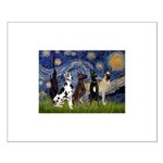Starry / 4 Great Danes Small Poster