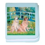 Bridge / Great Pyrenees (2) baby blanket