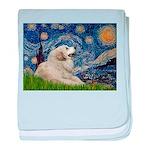 Starry / Gr Pyrenees baby blanket