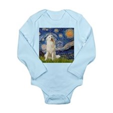 Starry Night / Pyrenees Long Sleeve Infant Bodysui