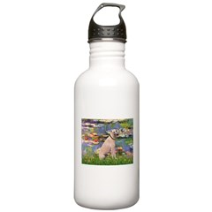 Lilies2/Greyhound (f) Stainless Water Bottle 1.0L