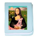 Mona Lisa / Greyhound #1 baby blanket