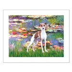 Lilies2/Italian Greyhound Small Poster