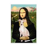 Mona Lisa / Ital Greyhound Mini Poster Print