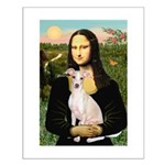 Mona Lisa / Ital Greyhound Small Poster