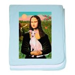Mona Lisa / Ital Greyhound baby blanket