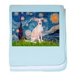 Starry Night / Ital Greyhound baby blanket