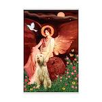Seated Angel /Italian Spinone Mini Poster Print