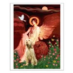 Seated Angel /Italian Spinone Small Poster