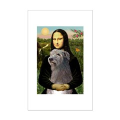 Mona / Irish Wolf Mini Poster Print