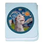 Starry Irish Wolfhound baby blanket