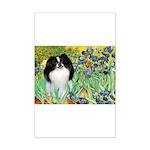 Irises/Japanese Chin Mini Poster Print