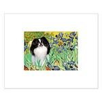 Irises/Japanese Chin Small Poster
