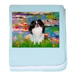 Lilies (#2)/Japanese Chin baby blanket