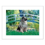 Bridge / Keeshond Small Poster