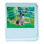 Bridge / Keeshond baby blanket