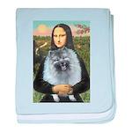 Mona Lisa / Keeshond (F) baby blanket