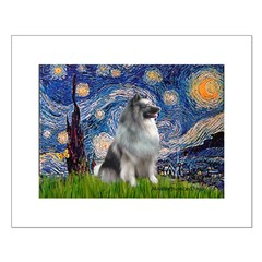 Starry / Keeshond Posters