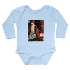 Accolade - Two Keeshonds Long Sleeve Infant Bodysu