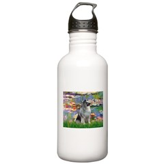 Lilies / Keeshond Stainless Water Bottle 1.0L