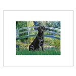 Bridge & Black Lab Small Poster