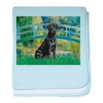 Bridge & Black Lab baby blanket