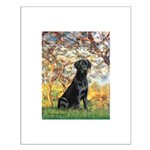 Spring & Black Lab Small Poster