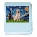 Starry Night Yellow Lab baby blanket